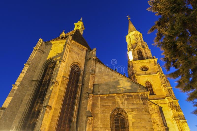 St Michael Church in cluj-Napoca royalty-vrije stock foto