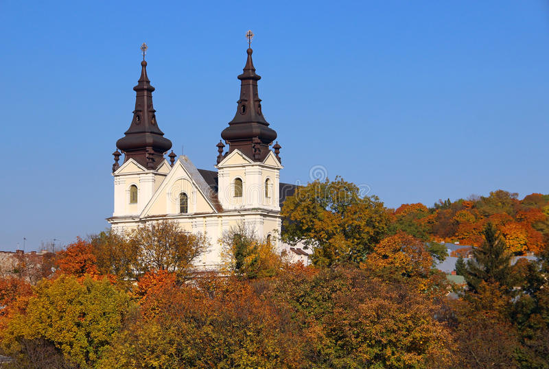 St. Michael church, Lviv, Ukraine. Church of St. Michael the Archangel (Carmelite church), Lviv, Ukraine royalty free stock photos