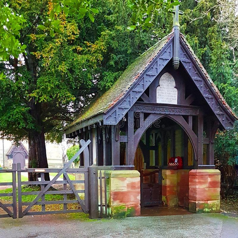 St Michael Church Lych Gate, Rocester photos stock