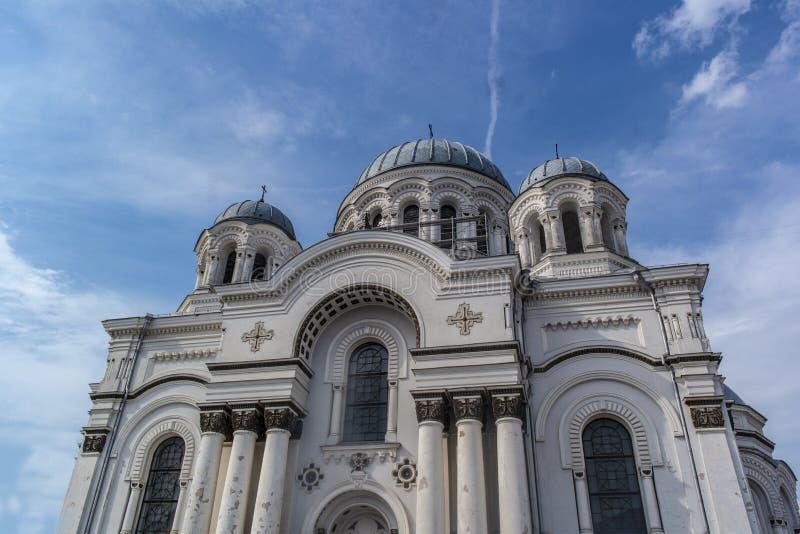 St Michael de Aartsengel` s Kerk in Kaunas stock foto's