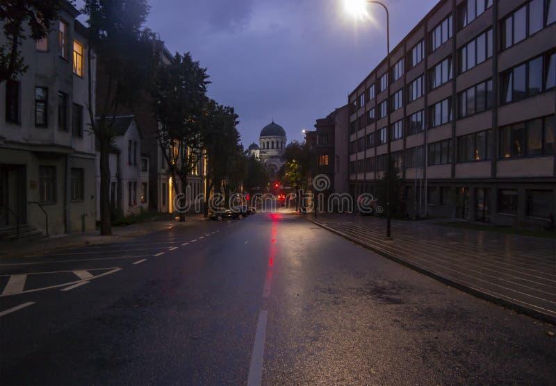 St Michael de Aartsengel` s Kerk in Kaunas stock fotografie