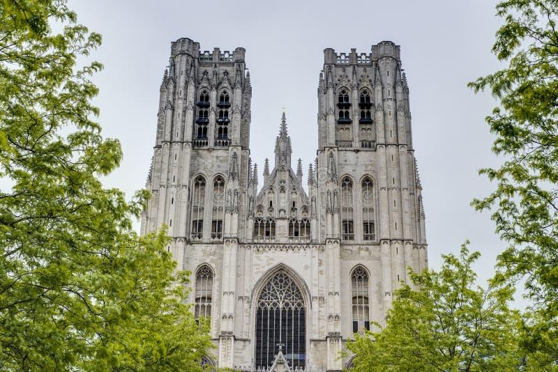 St Michael e st Gudula a Bruxelles, Belgio. fotografie stock