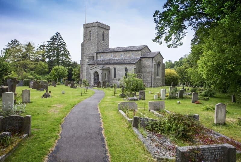 St Michael et toute l'église Halton d'anges images stock