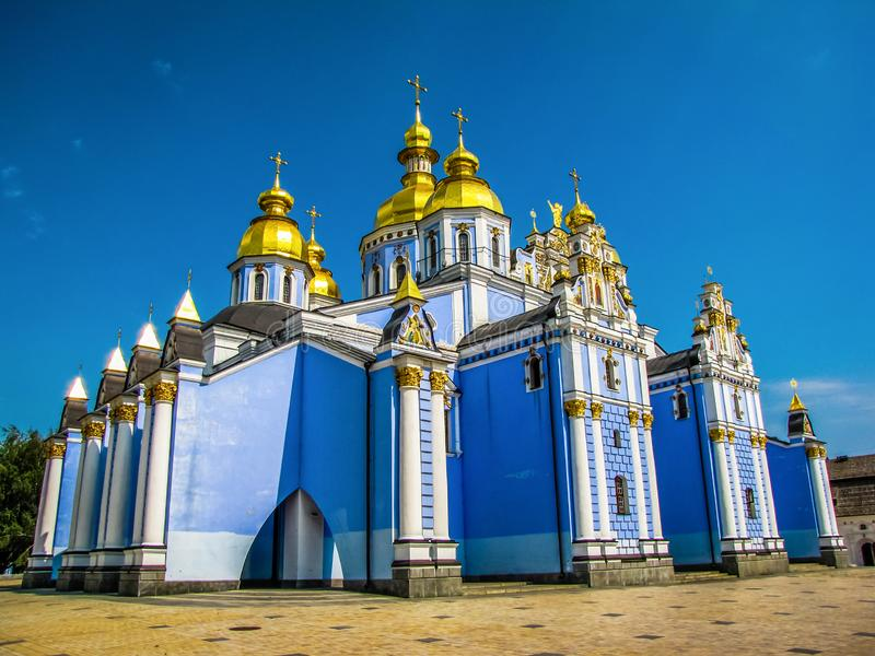 St Michael Golden-Domed Monastery em Kiev, Ucr?nia foto de stock royalty free