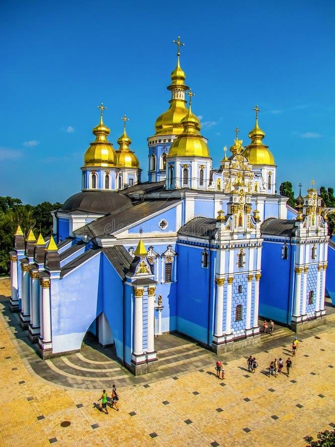 St Michael Golden-Domed Monastery i Kiev, Ukraina arkivfoton