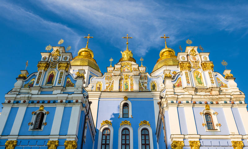 St Michael Golden-Domed Monastery a Kiev fotografie stock libere da diritti