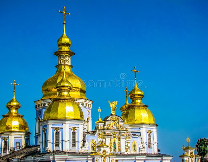 St Michael Golden-Domed Monastery in Kiev, de Oekra?ne stock afbeelding