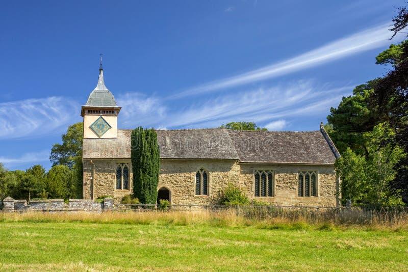 St Michael i Wszystkie Angels' kościół, Herefordshire, Anglia fotografia royalty free