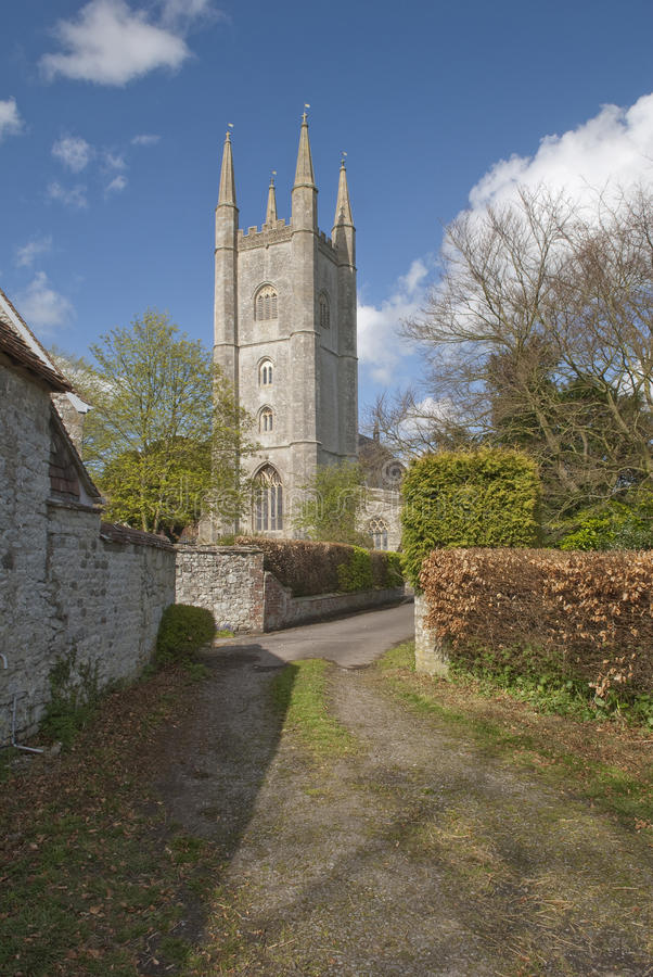 St Michael a igreja do Archangel, mera, Wiltshire foto de stock