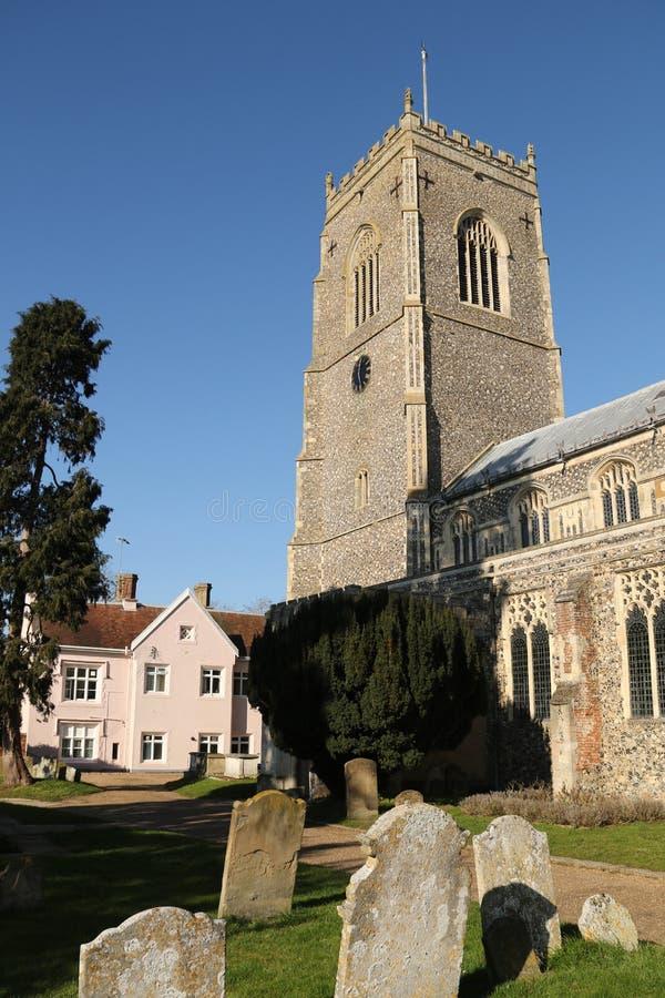 St Michael Kerk, Framlingham stock afbeeldingen