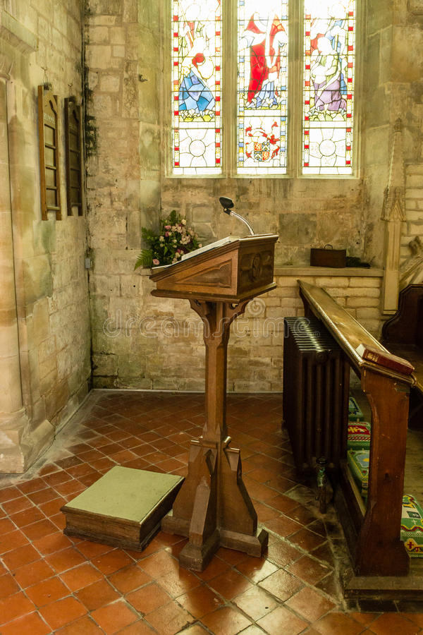 St Michael kościół pulpit zdjęcie stock