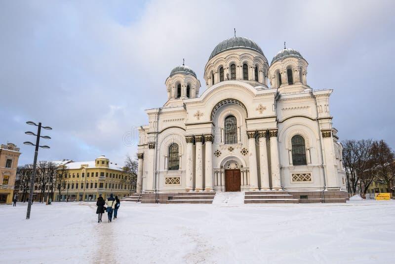 St Michael kyrkan för ärkeängel s, vinterplats royaltyfri foto