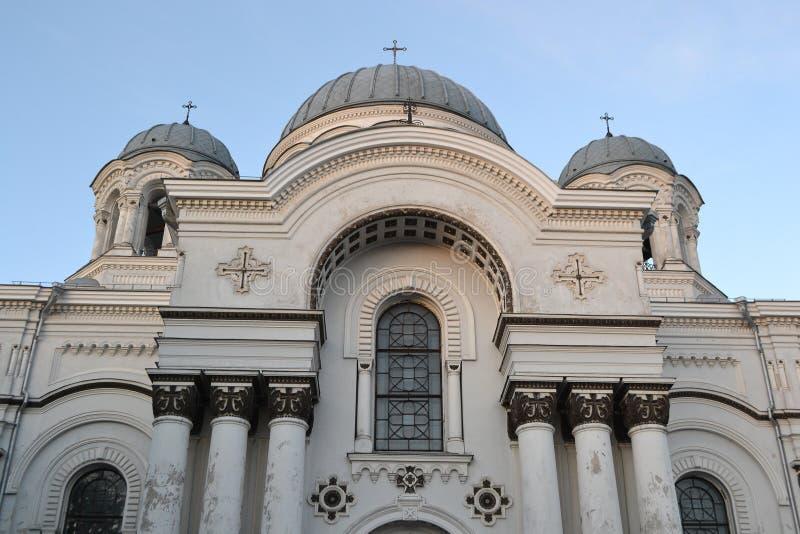 St Michael la chiesa di arcangelo a Kaunas. immagine stock