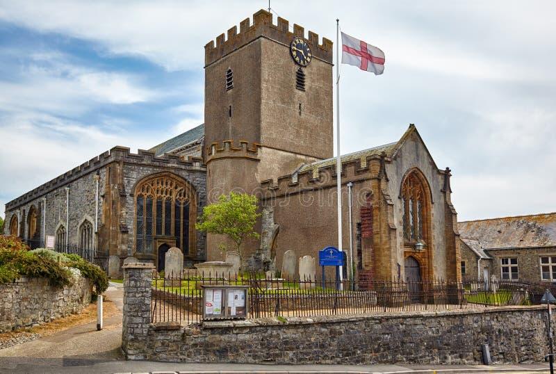St Michael la chiesa di arcangelo Lyme regis Dorset ad ovest l'inghilterra immagini stock