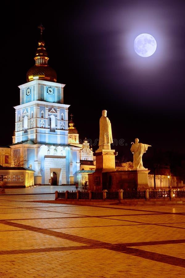 St. Michael Monastery bij nacht royalty-vrije stock fotografie