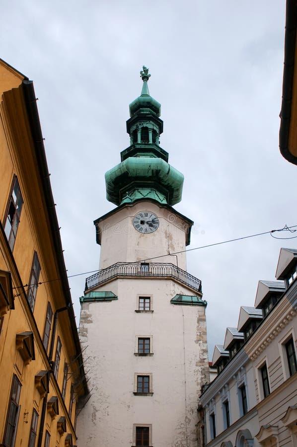 St. Michael poort (Michalska Brana) stock afbeelding