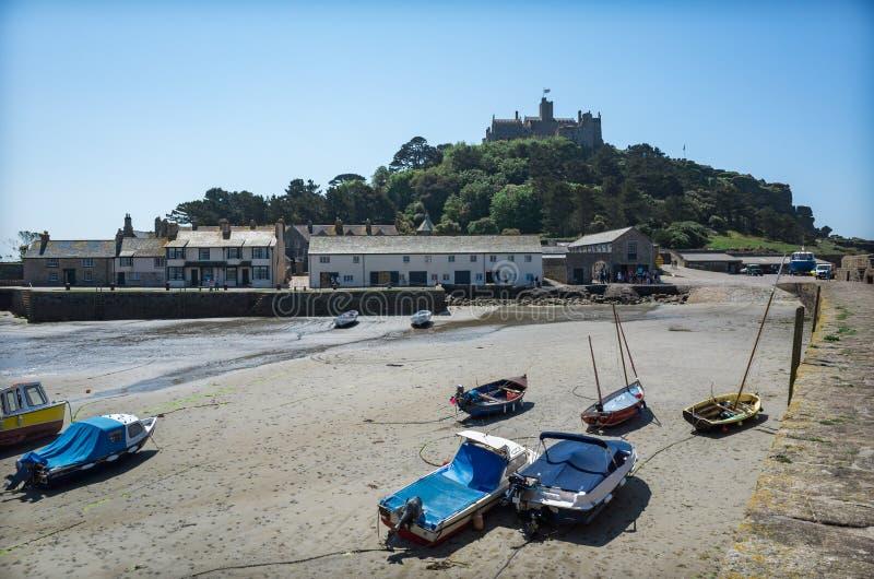 St- Michael` s Berghafen an einem Sommertag Cornwall England lizenzfreie stockfotografie