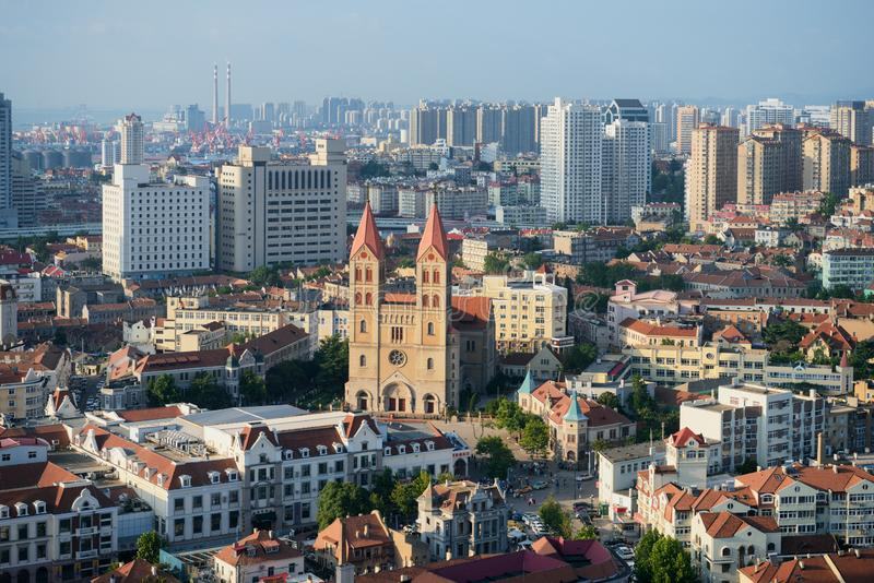 St. Michael`s Cathedral, Qingdao royalty free stock images