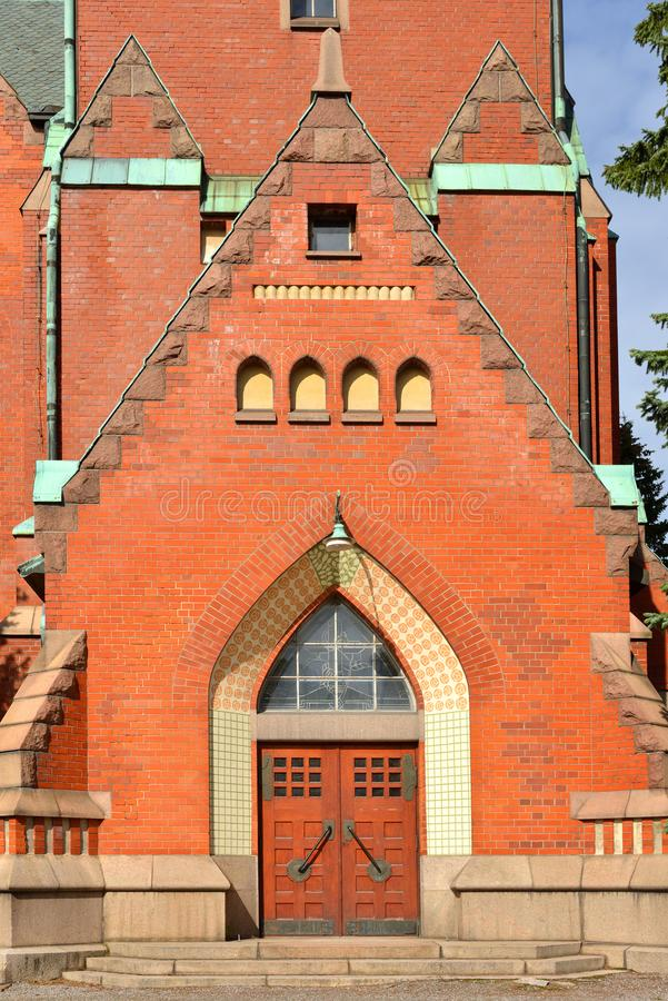 St Michael`s Church is church situated in central Turku. It`s named after Archangel Michael and was finished in 1905. Entrance. St Michael`s Church is church royalty free stock images