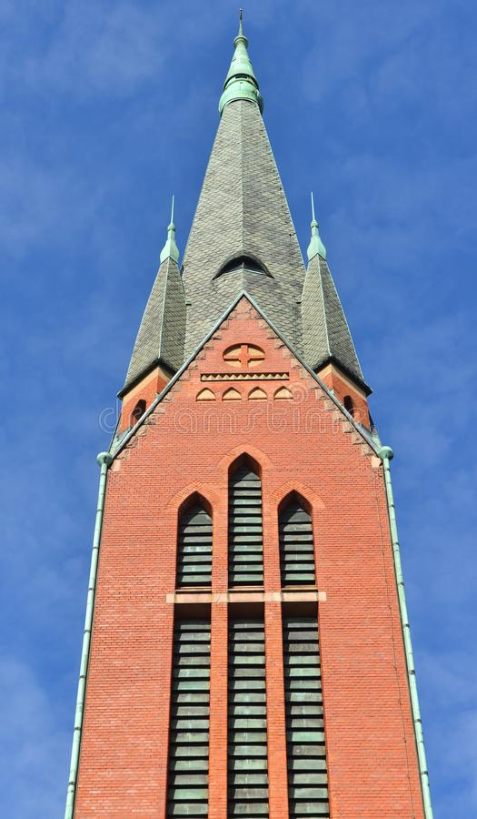 St Michael`s Church is church situated in central Turku. It`s named after Archangel Michael and was finished in 1905 fragment. Suomi stock photo