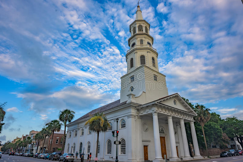 St. Michael's Episcopal Church, a National Historic Landmark and stock photography