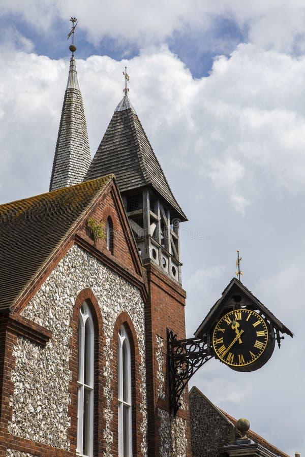 St Michael ` s Kerk in Lewes stock afbeelding