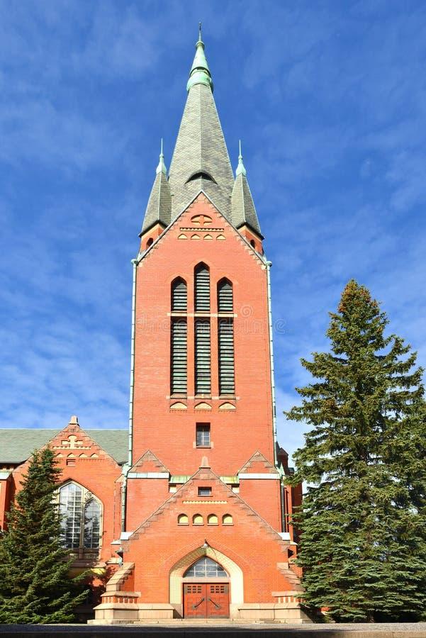 St Michael ` s kościół jest kościół lokalizującym w środkowym Turku Ja ` s wymieniający po archanioła Michael i kończył w 1905 zdjęcia royalty free