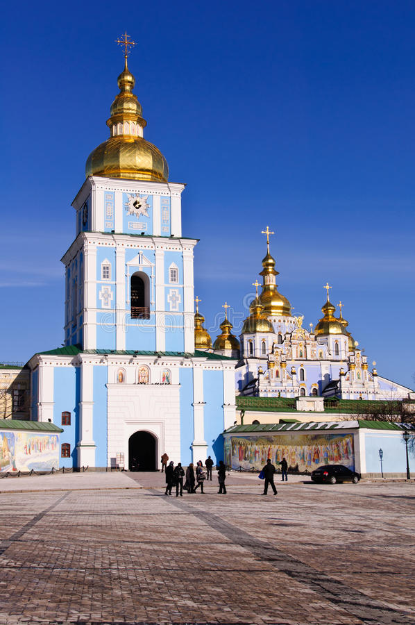 Free St. Michael's Monastery, Golden Domes In Kyiv Royalty Free Stock Images - 21775689