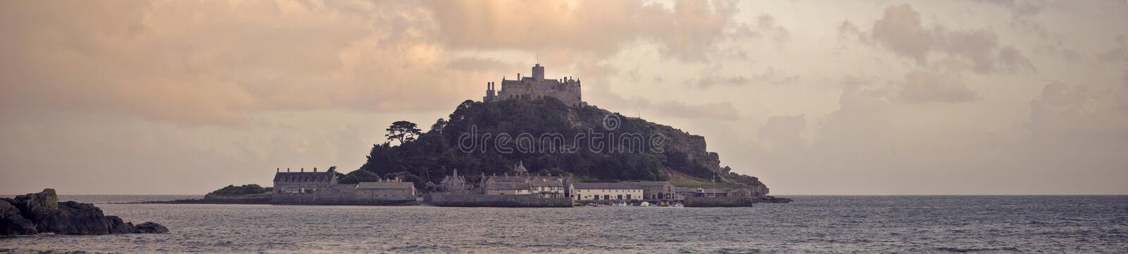 Download St Michael's Mount stock photo. Image of shore, dusk - 12752278