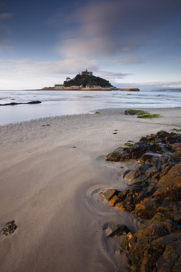 Download St Michael's Mount stock photo. Image of morning, harbor - 25575974