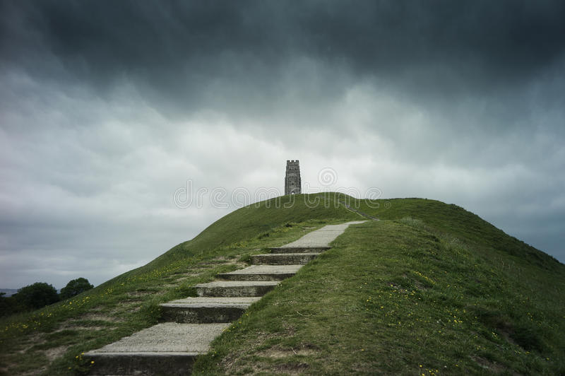 Download St. Michael's Tower On Glastonbury Tor Stock Photo - Image: 25844902