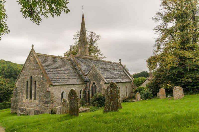 St Michael & Wszystkie anioła kościelny mały bredy obraz royalty free