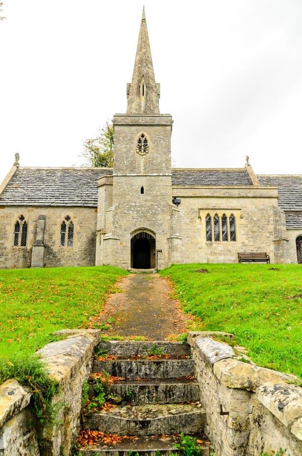 St Michael & Wszystkie anioła kościelny mały bredy obrazy stock