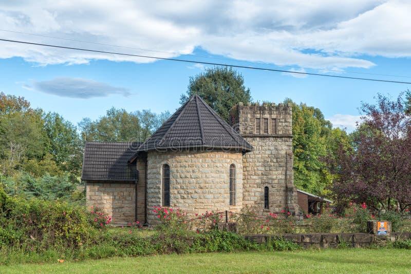 St Michaels和所有天使英国国教的教堂,在Himeville 免版税库存照片