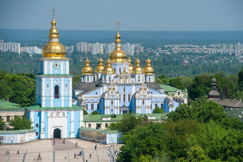 St. Michaels大教堂在基辅-乌克兰 免版税库存图片