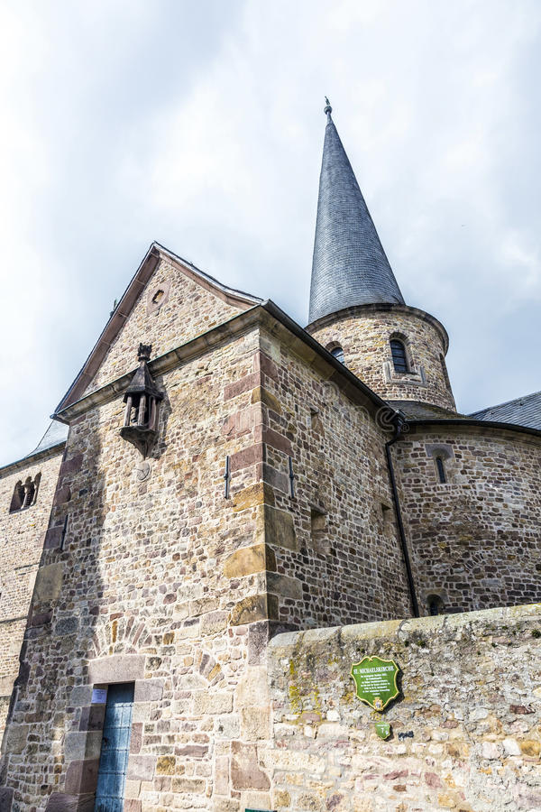 St Michaels教会在富尔达 图库摄影