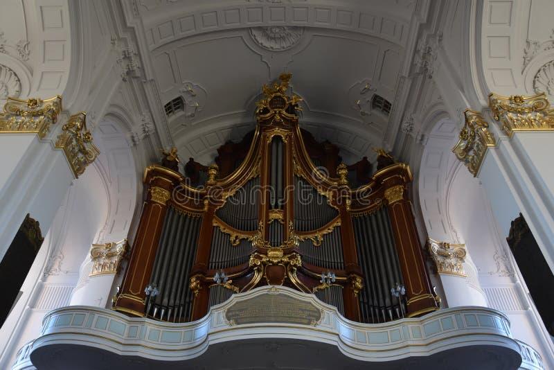 St Michaels教会在汉堡,德国 库存照片