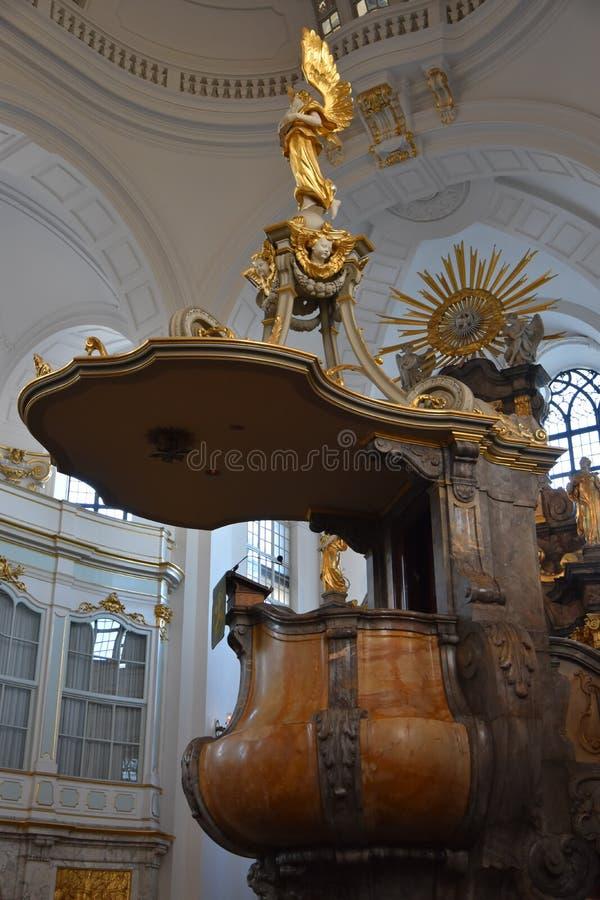 St Michaels教会在汉堡,德国 免版税库存照片