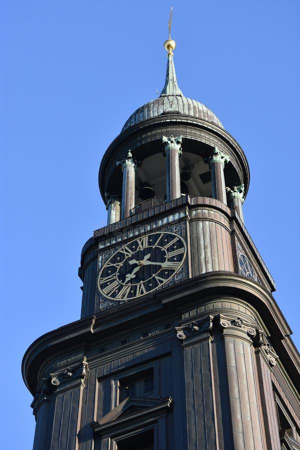 St Michaels教会在汉堡,德国 图库摄影