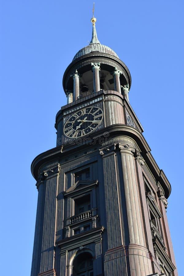 St Michaels教会在汉堡,德国 库存图片