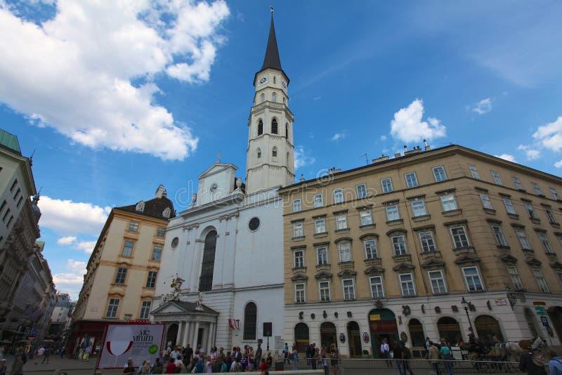 St. Michaels教会在维也纳 免版税库存图片