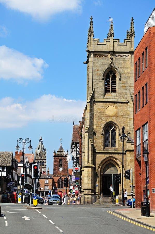 St Michaels教会,彻斯特 免版税库存图片