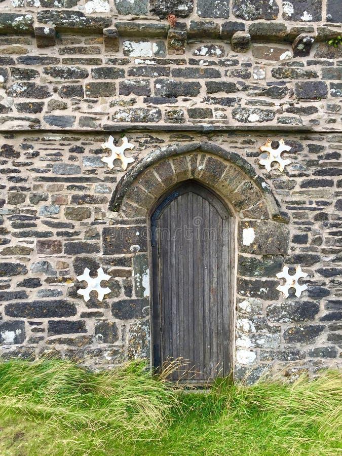 St Michaels教会, Brentor,德文郡 图库摄影