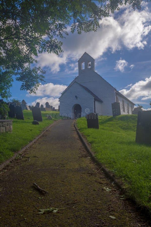 St Michaels教会, Penbryn西部威尔士 图库摄影