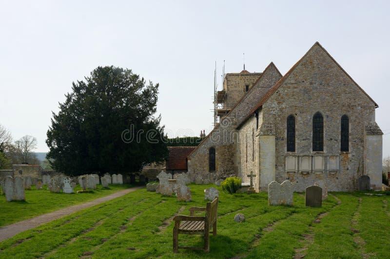 St Michaels Church, Amberley, Sussex, UK fotografering för bildbyråer
