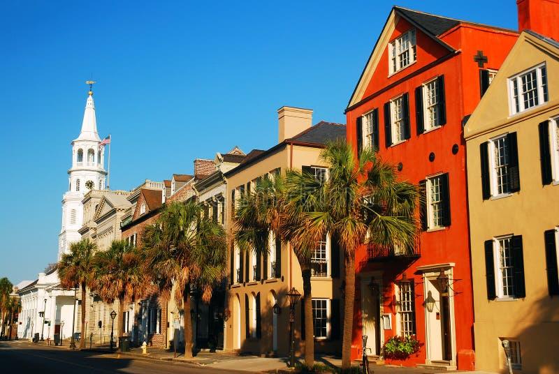 St Michaels Church, Charleston histórico, SC fotografia de stock