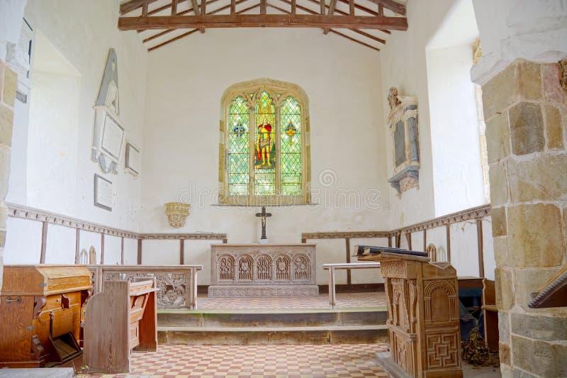 St Michaels Church Interior Burwell, Lincolnshire Reino Unido fotografia de stock