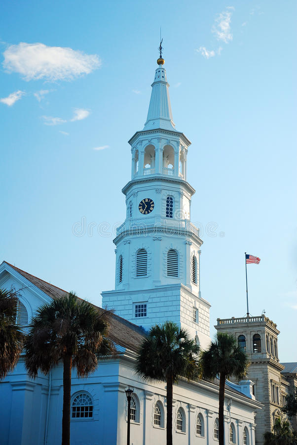 St Michaels de Charleston foto de stock royalty free