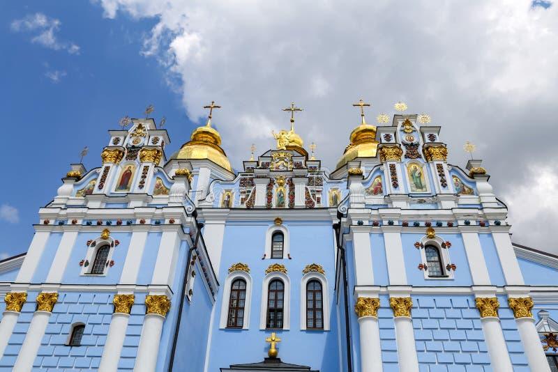 St Michaels Golden Domed Monastery a Kiev, Ucraina fotografia stock libera da diritti