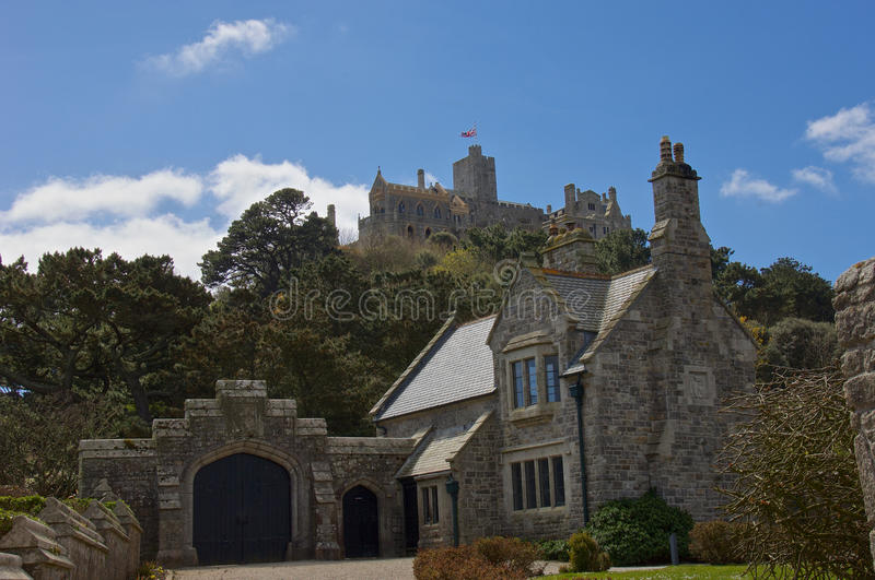 St Michaels Mount Cornwall image stock